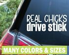 Real Chicks Drive Stick Funny Jdm Import Decal Sticker