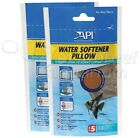 API Water Softener Pillow Lowers Hardness in Aquarium Size 5 Pouch Treats 20 gal