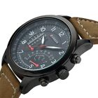 New CURREN Fashion Mens Leather Analog Army Military Quartz Sport Wrist Watch image