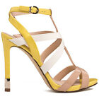 GUESS CACIA sandalo pelle gialla beige yellow beige leather sandals heels €150