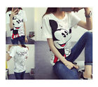 Disney Mickey Mouse Women T-shirt cute cartoon short Blouse T-shirt US