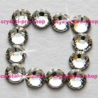 (Any SIZE) Crystal Clear Iron On Flatback Hot fix Rhinestones Glass Shine Shine