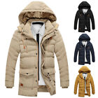 WINTER SALE~NEW Mens Coat Outwear Hooded Padded Long Overcoat TOP 4 Color XS-XL