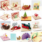 3D Pop Up Greeting Card Snowman Jesus Birthday Christmas Thanksgiving Lover Card
