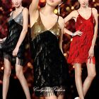 Sexy Women Cocktail Party Night Dance Club Bling Sequin Fringe Dress 6-12 305