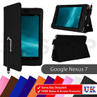 'Pu Leather Case Cover For Asus Google Nexus 7 1st Gen Tablet 2012 Screen Film