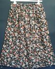 LADIES SKIRT black floral print HANDMADE IN UK size 10 12 14 16 boho