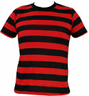 Mens Black and Red Striped T-Shirt