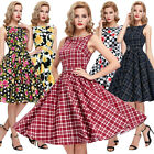 CHEAP Womens 50'S VINTAGE STYLE Swing Pin UP Evening Party Dress S-XL