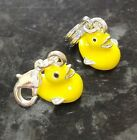 1 x Yellow Rubber Duck Enamel Charm European or Clip On