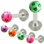 labret lip ring barbell monroe bar tragus stud ear piercing 9IAH-PICK COLOR&SIZE