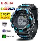 Men's Fashion LED Digital Alarm Date Army Watch Waterproof Sport Wrist Watches  image