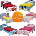 DISNEY & CHARACTER TODDLER BEDS - NO STORAGE + FOAM MATTRESS INCLUDED - FREE P+P