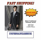 NEW Traditional Morning Coat BLACK CUTAWAY Victorian Formal Tuxedo Jacket