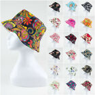 Women Lady Boonie Hunting Fishing Outdoor Cap Flower Floral Bucket Sun Hat