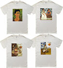 Famous Paintings Frida Kahlo's -Two Fridas - Thinking About Dead -Men's T-shirt