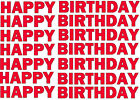happy birthday stickers 22mm high, various colours !