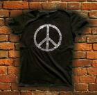 T Shirts Femme Peace and Love en Strass, HeLL HeaD S M L XL XXL Vintage Tee