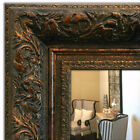 Ornate Framed Wall Mirror, Mantle & Bathroom Mirror Dark Gold