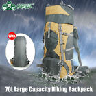 TONPAR 70L Climbing Camping Hiking Backpack External Frame knapsack w/ Raincover