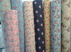 VINTAGE STYLE FLORAL POLYCOTTON 8 designs FABRIC MATERIAL SEWING PER METRE