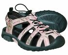 Itasca MISSISSIPPI RIVER Womens Pink Camo Bungee Lace Sport Water Sandals