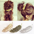 Women Ladies Metal Leaf Hair Clip Hairpin Barrette Bobby Pins Acces Jewelry