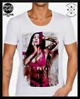 MENS MID-DEEP SCOOP NECK FASHION T SHIRT Tattoo RETRO OG Shore sexy club top