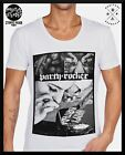 MENS new MID-DEEP SCOOP NECK FASHION T SHIRT Tattoo ufc RETRO Part sexy club top