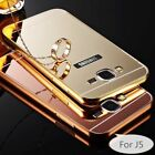 Luxury Aluminum Metal Mirror Case +PC Acrylic Back Case Cover For Samsung Phones