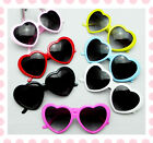 Oversized Heart Vintage Fashion Sunglasses Nerd Geek Retro 60s 80s