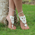 Chic Barefoot Sandals Crochet Cotton Foot Jewelry Anklet Bracelet Ankle Chain
