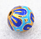 14mm cloisonne beads Promise Lotus Jewelry accessories gifts # 45