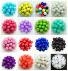 New 6/8/10/16/20/25mm Acrylic Round Pearl Spacer Loose Beads Diy Jewelry Making