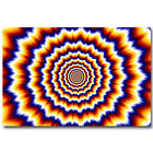 Psychedelic Trippy Fractal Explosion Silk Poster Print 12x18 24x36 inch