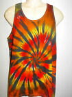 MENS TIE DYE DYED LOOSE FIT GYM TYPE SINGLET HIPPY RAVE DOOF SIZES S M L XL XXL