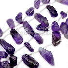 Natural Amethyst Side Drilled Nugget Beads 15.5""