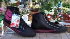 NEW UNDERGROUND SHOES BLACK WITH SKULL HIGH TOP SNEAKERS
