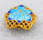 14x17x8mm cloisonne beads Lotus leaf Jewelry accessories gifts # 44