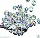 AAA rondelle spacer beads, silver, AB white clear, option for size 6, 8, 10 mm*
