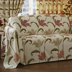 Kinsale Floral Quality 100% Cotton Sofa Throw With Woven Effect Design