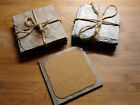 Handcrafted Slate Coasters Set Rustic Upcycled Antique Roofing Cork Backing