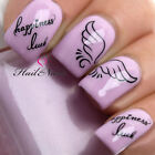 Nail Art Wraps Water Transfers Decals Luck Angel Wings Wish 3d Nails  Y202