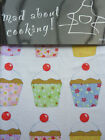 Apron Adult Shabby Chic cup cakes print Kitchen baking Chef 100% cotton gift