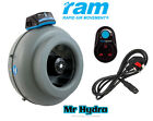 RAM 5 inch 125mm extraction, inlet fan Rapid Air Movement Fan & speed controller