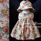 #CC5 HANDMADE Baby Toddler Girl Floral Print Summer Sun Flower Dress Clothes Set
