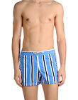 Brooksfield men royal blue striped Swim trunk shorts swimwear size S