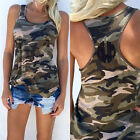 COOL Sexy Women Summer Vest Top Sleeveless Shirt Camouflage Tank Top T-Shirts