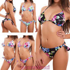 Bikini woman swimwear sea flowers triangle brazilian sexy new SE88631