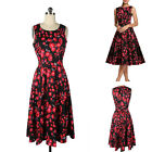 Charms Women Summer Slim Rose Floral Printed Party Sleeveless Dress S-XXL New